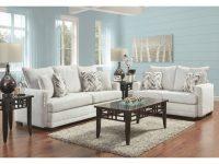 Bravado Silver Sofa & Loveseat throughout Badcock Furniture Living Room Sets