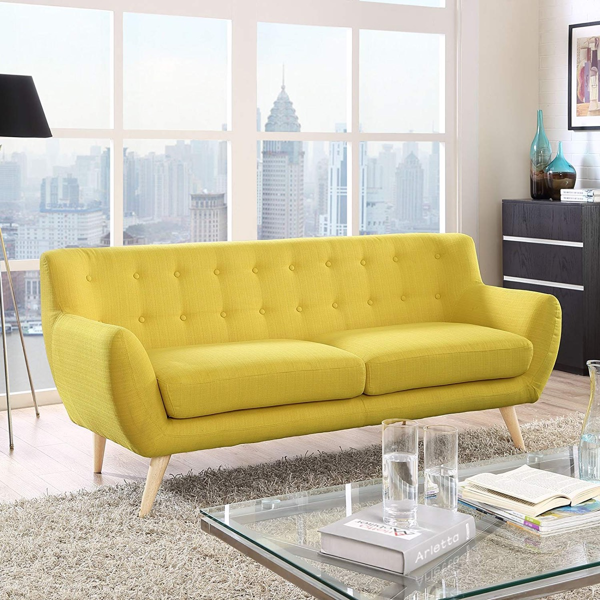 bright-yellow-mid-century-modern-sofa-statement-piece-inspiration