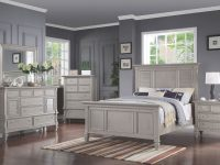 Brimley 4-Piece Queen Bedroom Set – Grey inside Awesome Bedroom Set Grey