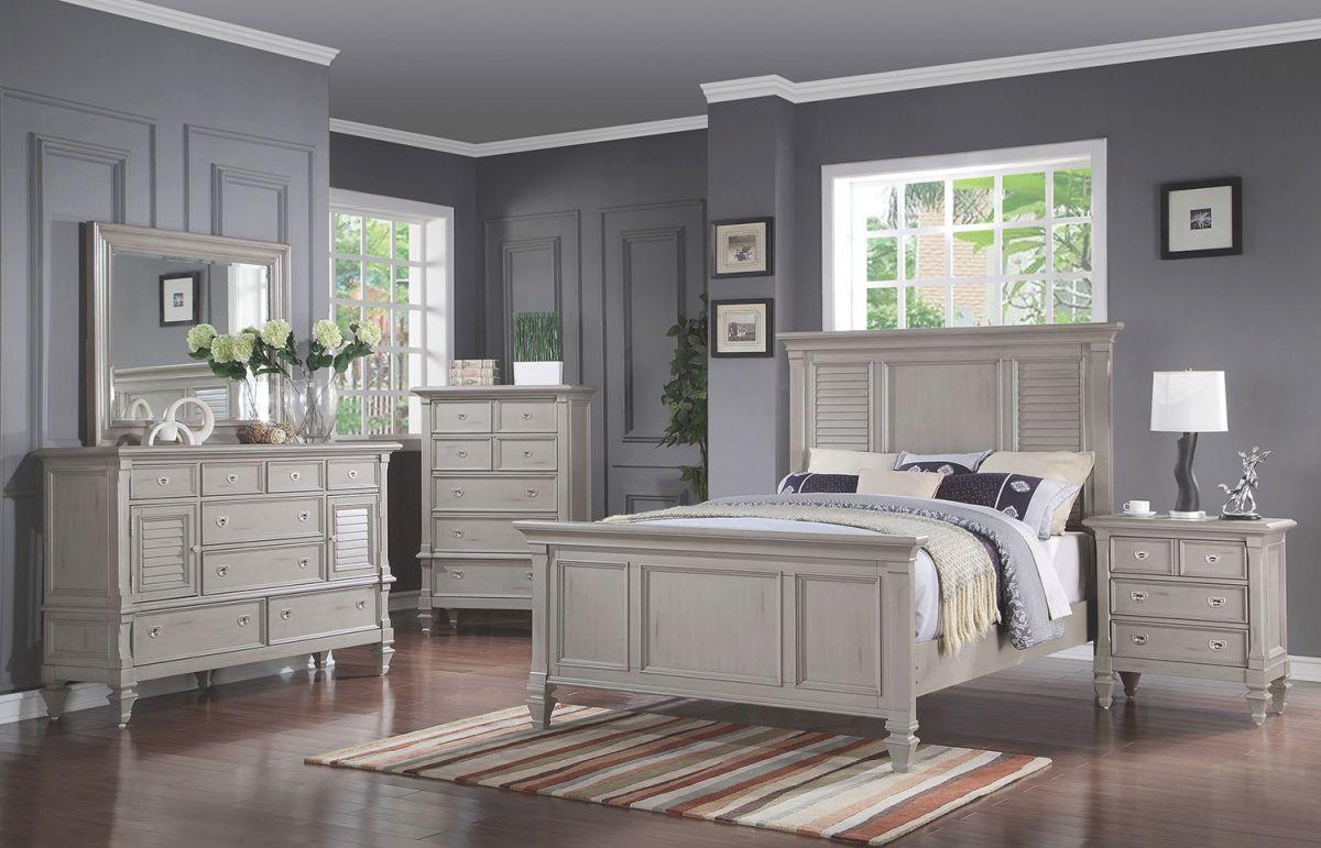 Brimley 4-Piece Queen Bedroom Set – Grey inside Awesome Bedroom Set Grey