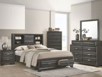 "Briscoe 5-Piece Queen Bedroom Set With 32"" Led-Tv inside Beautiful Bedroom Set Queen"