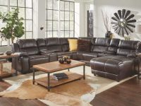 Bristol 8 Piece Right Arm Facing Pressback Chaise Sectional in Badcock Furniture Living Room Sets