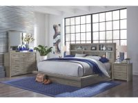 Brownstone Gray 4 Piece Queen Bedroom Set – Modern Loft within Bedroom Set Queen
