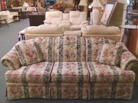 Broyhill Floral/striped Sofa | Delmarva Furniture Consignment within Inspirational Broyhill Living Room Furniture