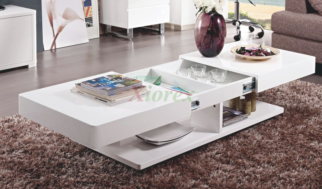 Burlington White Coffee Table Living Room Furniture | Xiorex with Unique Living Room Furniture Tables