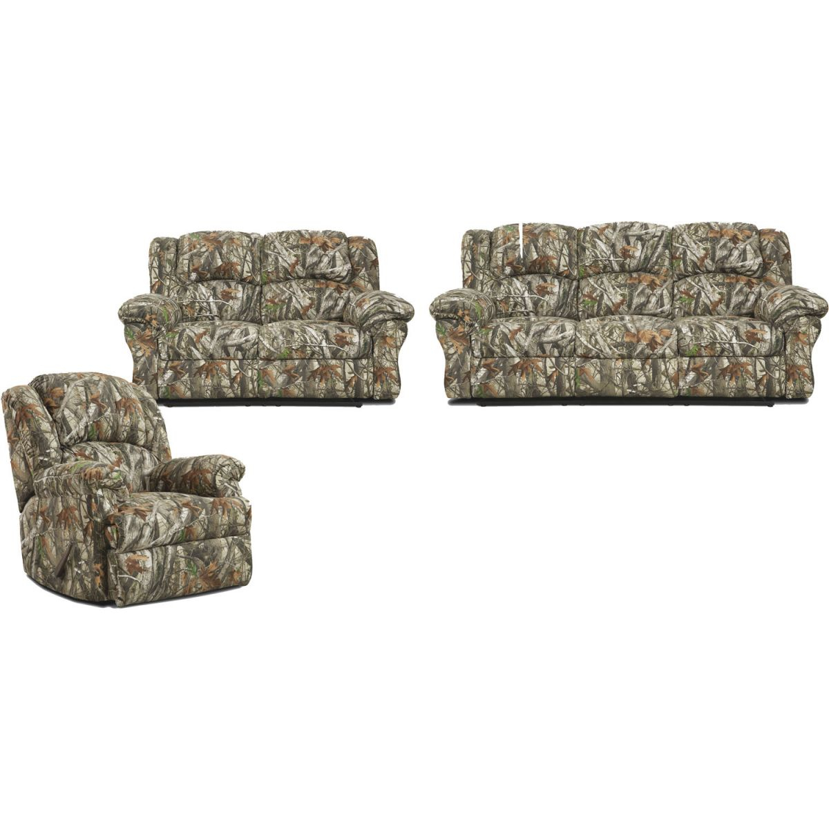Cambridge Camo 3 Piece Living Set: Sofa, Loveseat, Recliner within Inspirational Camo Living Room Furniture