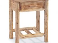 Castlecreek Log End Table intended for Unique Living Room Furniture Tables