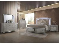 Champagne Platinum 4 Piece Queen Bedroom Set – Kaitlyn within Beautiful Bedroom Set Queen