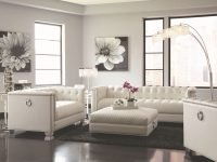 Chaviano Chic Living Room Groupcoaster At Dunk & Bright Furniture inside Tufted Living Room Furniture