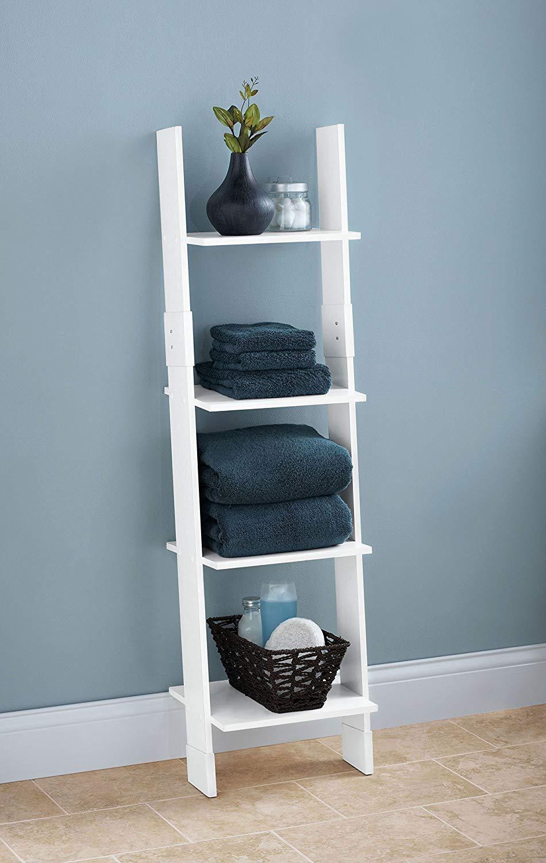 cheap-ladder-shelf-for-bathroom-modern-design