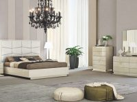 Chiara Modern Ecoleather Panel Bedroom Set for Bedroom Set Modern