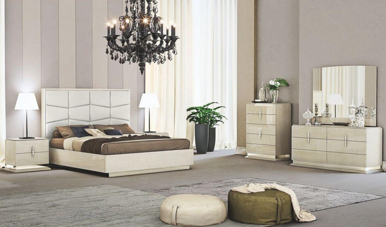Chiara Modern Ecoleather Panel Bedroom Set for Bedroom Set Modern