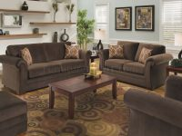 Chocolate Fabric Modern Casual Living Room Sofa & Loveseat Set throughout Luxury Casual Living Room Furniture
