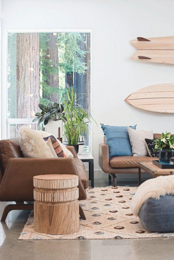Coastal Living // Modern Earthy Boho Coastal Decor | Living in Coastal Living Room Ideas