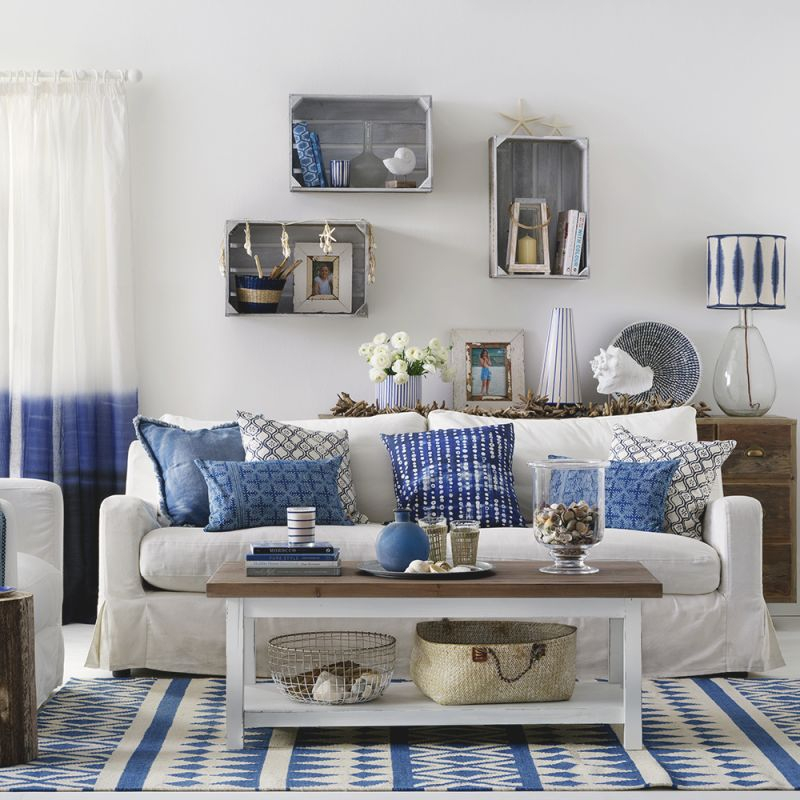 Coastal Living Rooms To Recreate Carefree Beach Days intended for Coastal Living Room Ideas