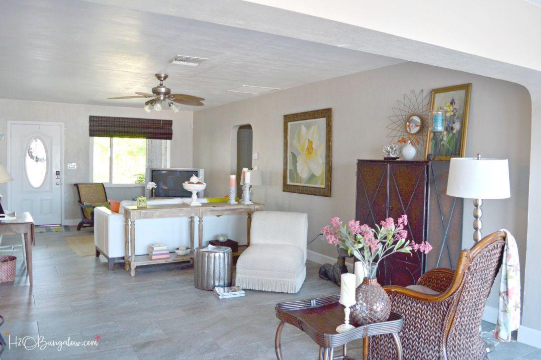 Contemporary Coastal Living Room Makeover – H2Obungalow in Luxury Coastal Living Room Ideas