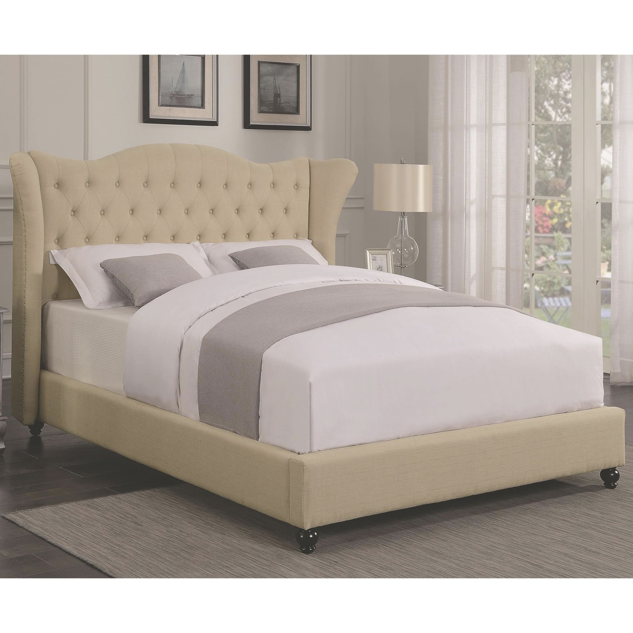 Coronado Transitional Upholstered King Bed With Button Tufted Headboard Coaster At Value City Furniture throughout King Bed Frame With Headboard