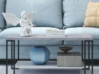 Costway Accent Coffee Table Modern Living Room Furniture Metal Frame W/lower Shelf throughout Modern Living Room Furniture
