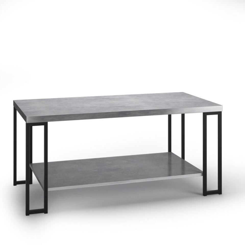 Costway Accent Coffee Table Modern Living Room Furniture Metal Frame W/lower Shelf with regard to Unique Living Room Furniture Tables