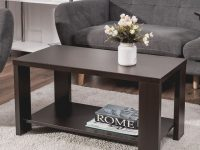 Costway Coffee Table Rectangular Cocktail Table Living Room Furniture – As Pic with Unique Living Room Furniture Tables
