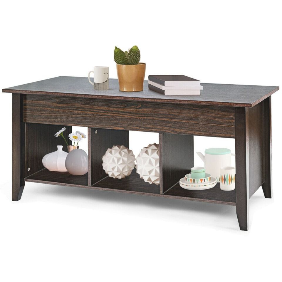 Costway Lift Top Coffee Table W/ Hidden Compartment Storage Shelf Living Room Furniture with regard to Living Room Furniture Tables