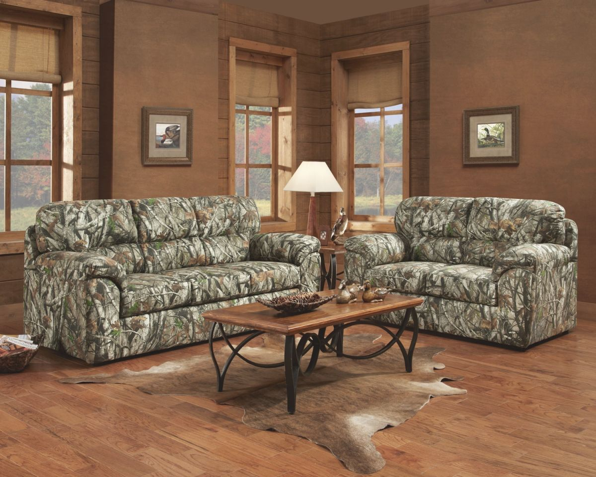 Cozy Brown Living Room Interior Design With Mossy Oak with regard to Inspirational Camo Living Room Furniture