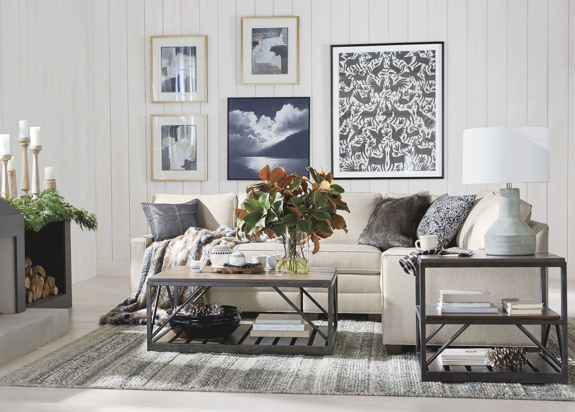 Cozy Cottage Style Living Room | Ethan Allen | Ethan Allen throughout Cottage Living Room Furniture