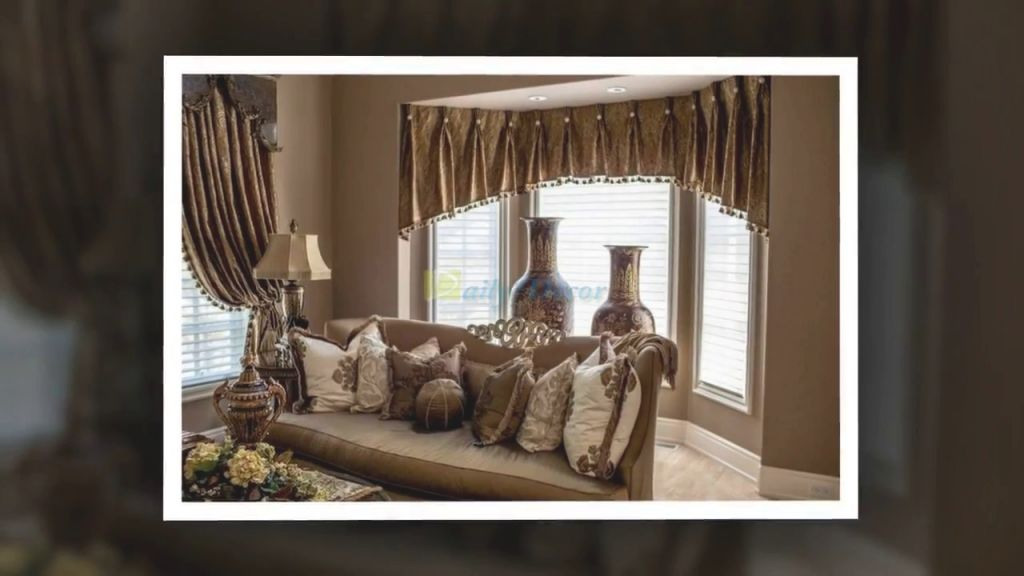 Daily Decor Living Room Bay Window Curtain Ideas Regarding Luxury Curtain Ideas For Living Room Awesome Decors