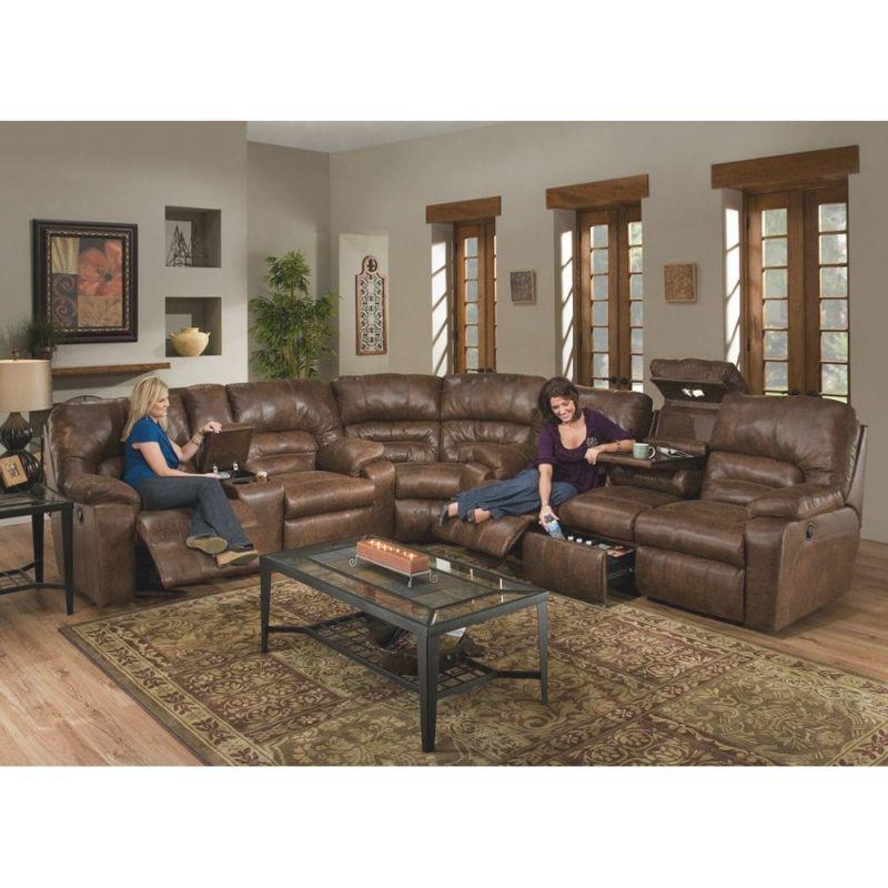 Dakota Living Room – Sofa, Loveseat & Wedge – Sectional – Rustic (59639) pertaining to Inspirational Rustic Living Room Furniture