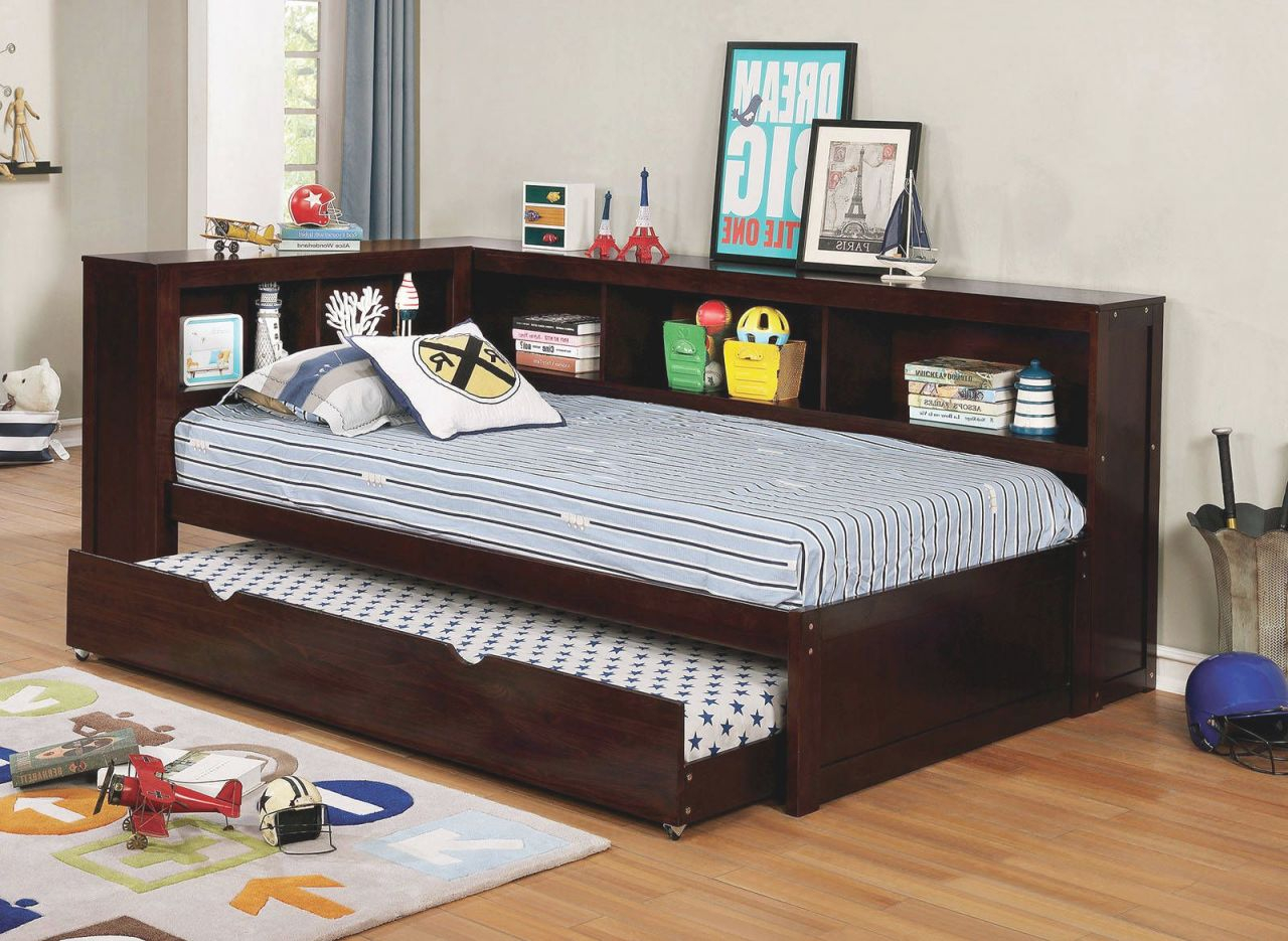 Daybed With Trundle Storage Cm1738Wh Full Size Bed With Full inside Full Size Bed With Trundle Bedroom Set
