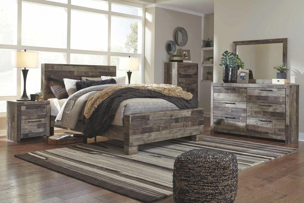 Derekson Multi-Gray Queen Panel Bedroom Set intended for Bedroom Set Queen