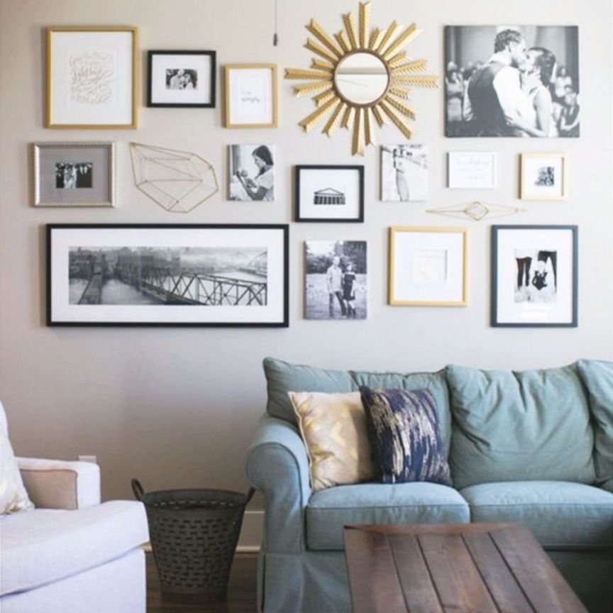 Diy Gallery Wall Ideas Accent Wall Decorating Ideas To With Regard To Wall Decor Ideas For Living Room Awesome Decors