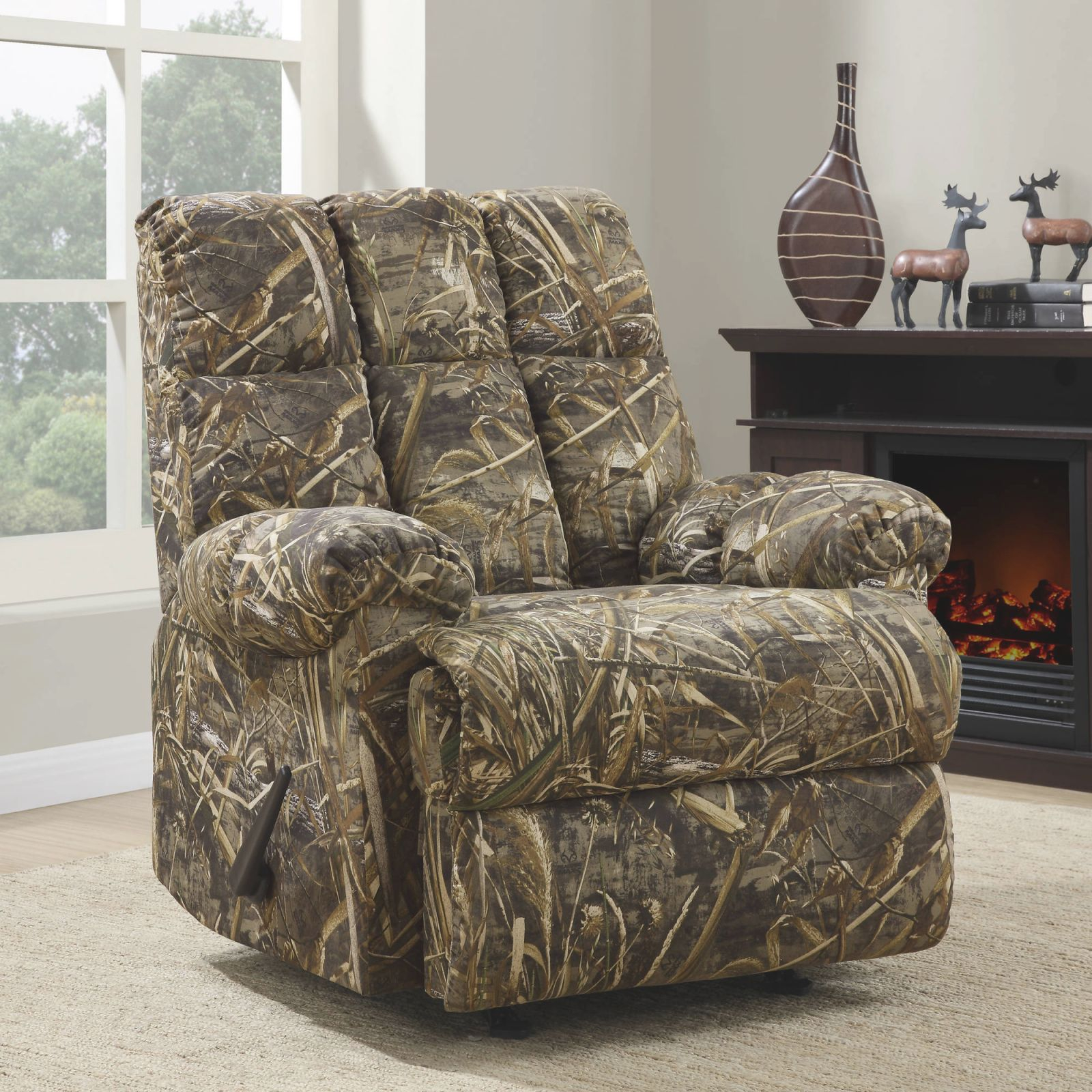 Dorel Living Realtree Camouflage Rocker Recliner with Inspirational Camo Living Room Furniture