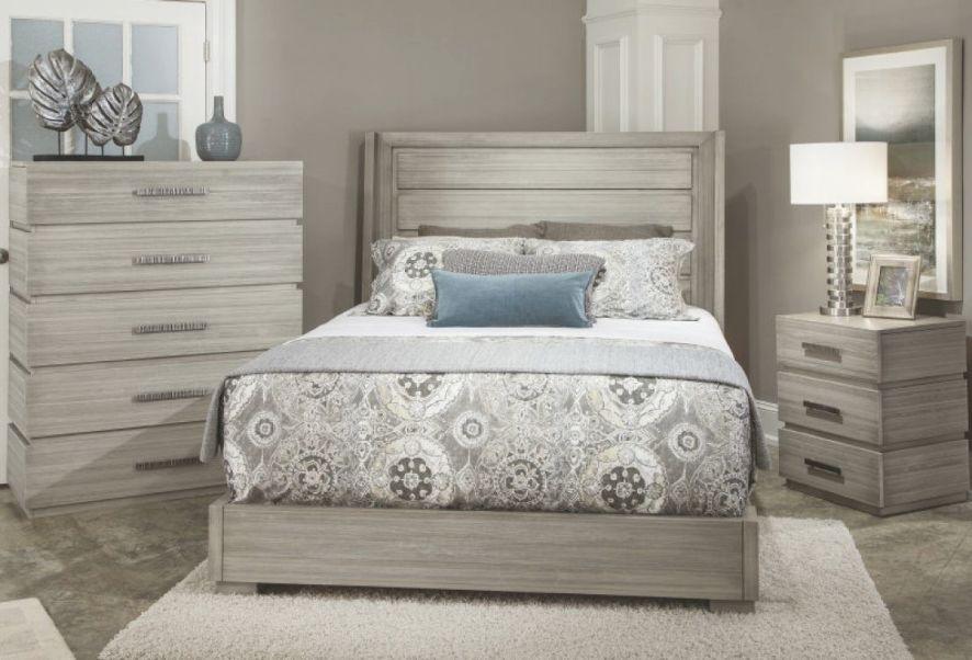 Durham Furniture Modern Simplicity 4-Piece Panel Bedroom Set W/ Wire Brush In Latte regarding Bedroom Set Modern