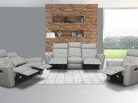Elegant Leather Living Room Set With Tufted Stitching Elements pertaining to Unique Tufted Living Room Furniture