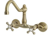 Elements Of Design Es3223Ax 6-Inch Adjustable Center Wall Mount Kitchen Faucet, Vintage Brass within Wall Mount Kitchen Faucet