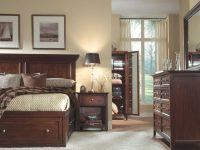 Ellsworth 4-Piece Queen Storage Bedroom Set – Cherry regarding Beautiful Bedroom Set Queen