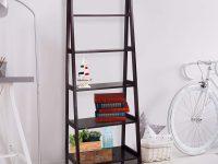 espresso-ladder-shelf-for-modern-interior-storage-living-room-bedroom-office