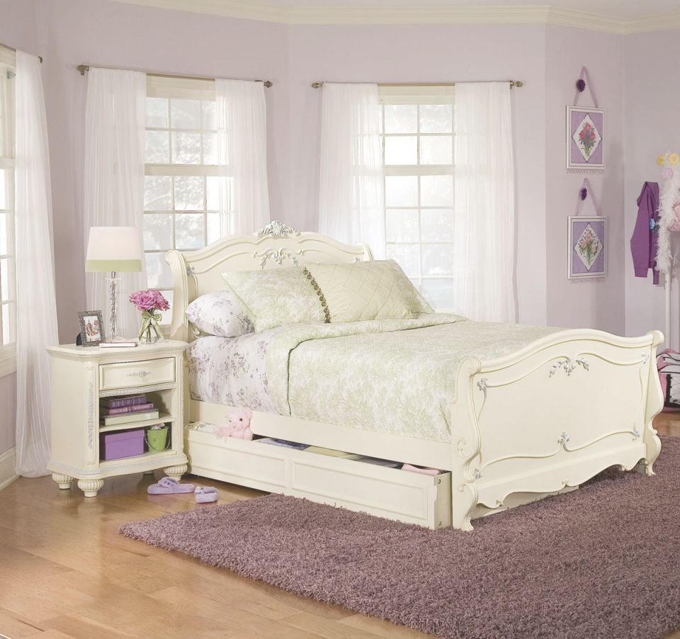 Fascinating Girls Bed Furniture Rooms Ideas Curtains Kid with Bedroom Set Girl