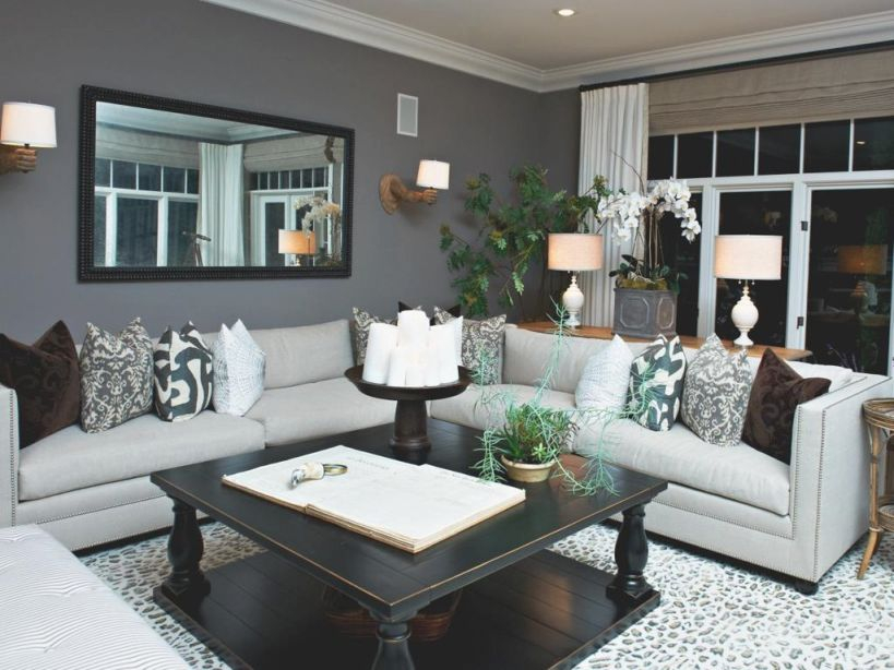 Faszinierend Brown Walls And Grey Couch Color Navy Light ...