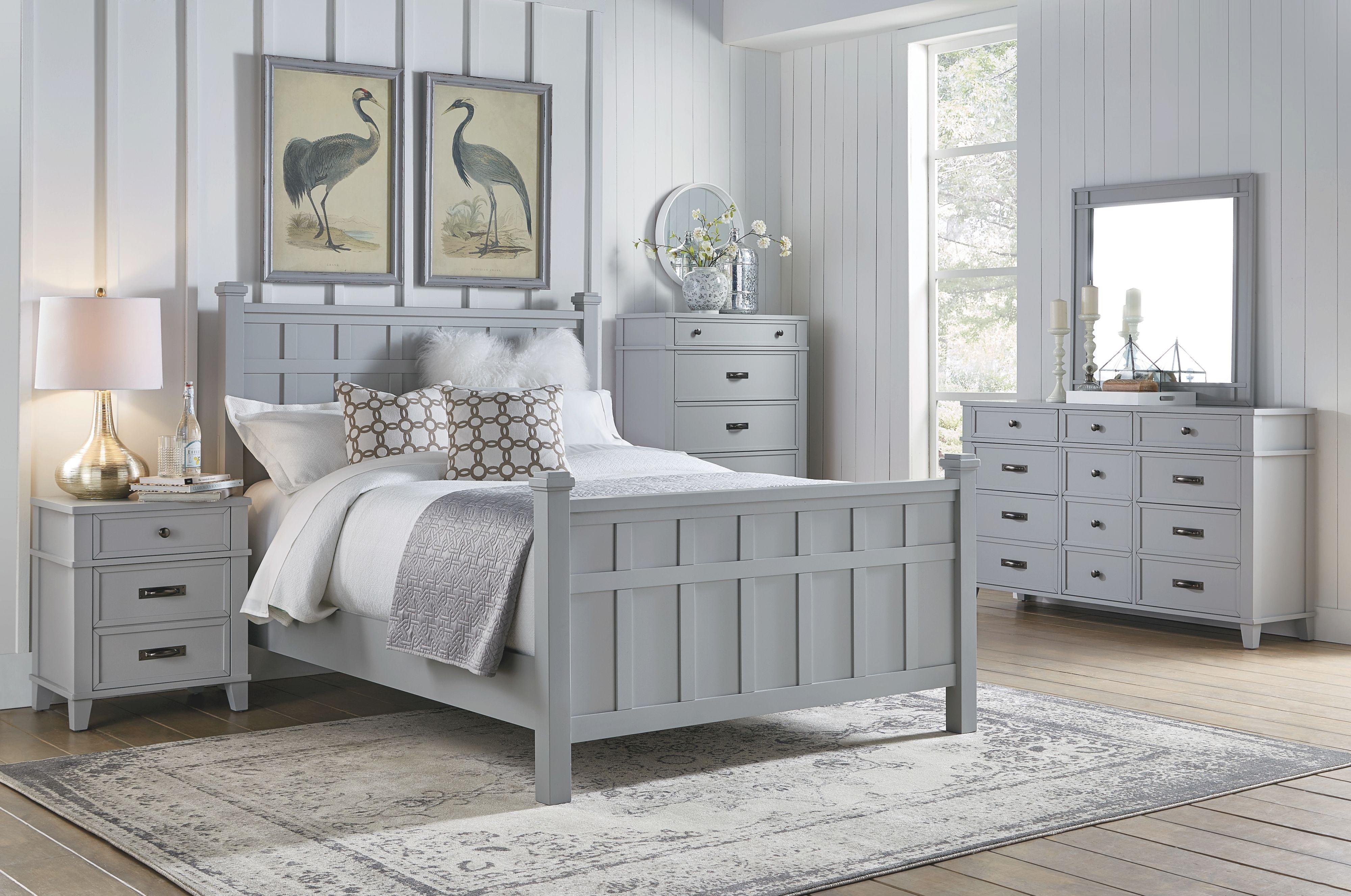 Felicity 4Pc Queen Bedroom Set – Grey pertaining to Beautiful Bedroom Set Queen