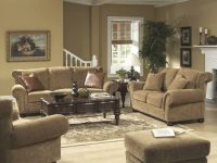Floral Chenille Stylish Living Room Sofa & Loveseat Set with Floral Living Room Furniture