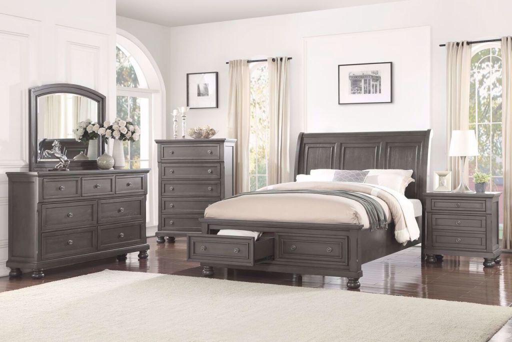 Franklin Grey Bedroom Set inside Awesome Bedroom Set Grey