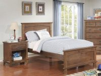 Furniture Of America Colin Dark Oak 2Pc Kids Bedroom Set With Twin Bed pertaining to Bedroom Set Dark Wood