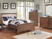 Furniture Of America Colin Upholstered Bedroom Set In Dark Oak intended for Bedroom Set Dark Wood