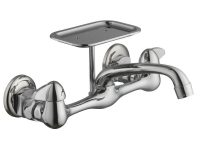 Glacier Bay 2-Handle Wall-Mount Kitchen Faucet With Soap Dish In Chrome with New Wall Mount Kitchen Faucet