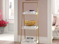 glamorous-gold-decorative-ladder-shelf-three-tier-luxury-design