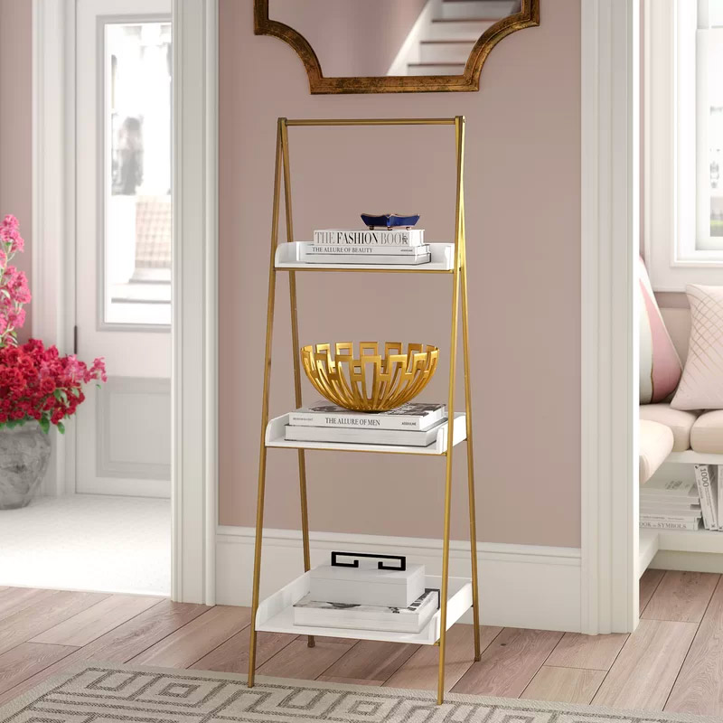 glamorous-gold-decorative-ladder-shelf-three-tier-luxury-design