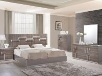 Glamorous Grey Zebra Wood Led Bedroom Set within Awesome Bedroom Set Grey