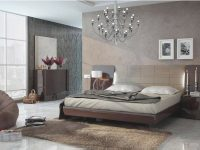 Glossy Chocolate Ivory Queen Bedroom Set 3 Modern Made In Spain Esf Barcelona pertaining to Luxury Bedroom Set Modern